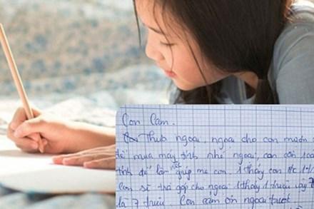 Bé gái ở TP.HCM viết tâm thư hỏi vay bà ngoại 7 triệu đồng, kế hoạch trả nợ chi tiết kèm theo khiến nhiều người phải choáng