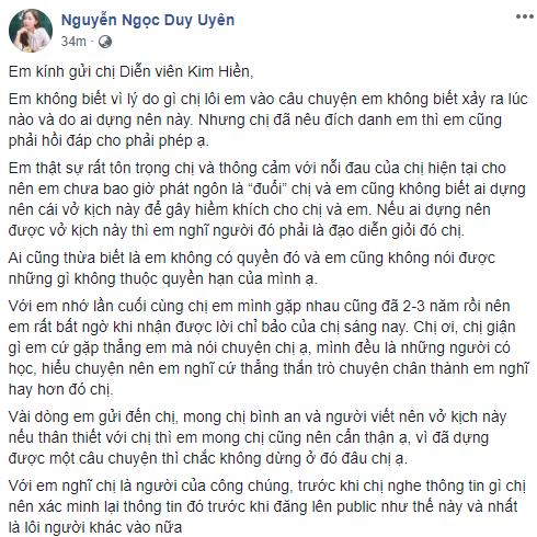 Kim Hiền bức xúc vì bị ca sĩ Duy Uyên (Mắt Ngọc) xúc phạm-2