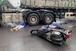 2 nạn nhân tử vong thương tâm sau va chạm với xe đầu kéo ở Long Biên là mẹ con-2