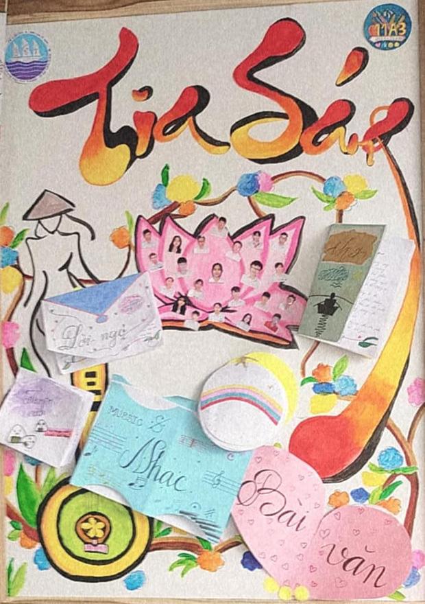 Học trò cấp 3 giờ siêu quá: Báo tường xịn sò như họa sĩ vẽ, càng nhìn càng thích mê-7