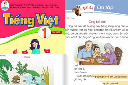 Công bố tài liệu chỉnh sửa các từ ngữ, bài tập đọc có nội dung không phù hợp trong sách giáo khoa Tiếng Việt 1 bộ Cánh Diều