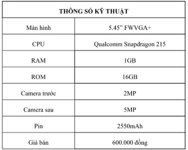 Ra mắt Vsmart Bee Lite giá 600 ngàn, phổ cập điện thoại thông minh tại Việt Nam-1