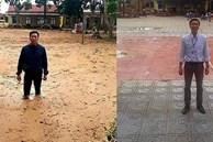 Bức ảnh before - after gây xúc động: Trường học Quảng Trị từng ngập bùn 1 mét đã đón học sinh trở lại