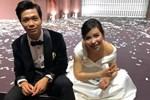 Vợ Công Phượng mặc váy cưới trơn nhẹ nhàng, cầm hoa cưới đắt đỏ khiến ai cũng liên tưởng ngay tới Song Hye Kyo-12