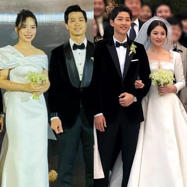 Vợ Công Phượng mặc váy cưới trơn nhẹ nhàng, cầm hoa cưới đắt đỏ khiến ai cũng liên tưởng ngay tới Song Hye Kyo-5