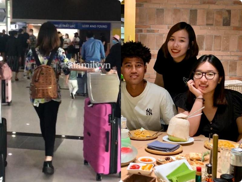 Cặp đôi Công Phượng - Viên Minh giản dị xuất hiện ở sân bay, thể hiện tình cảm cực tinh tế bằng 1 món hàng hiệu-3