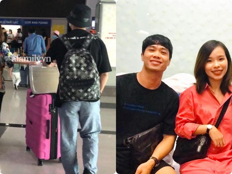 Cặp đôi Công Phượng - Viên Minh giản dị xuất hiện ở sân bay, thể hiện tình cảm cực tinh tế bằng 1 món hàng hiệu-8