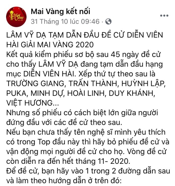 Lâm Vỹ Dạ bị anti-fans thả phẫn nộ sau khi dẫn đầu đề cử tại Mai Vàng-1