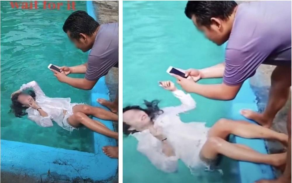 Nhờ bạn trai chụp ảnh hộ với ý tưởng suy tư trong làn nước, cô gái thất vọng tràn trề khi trông thấy album ảnh như triển lãm tấu hài-1