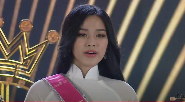 Biểu cảm khó hiểu của Tân Hoa hậu Việt Nam 2020: Mắt muốn khóc nhưng miệng thì muốn cười, có lúc lại thẫn thờ?-2