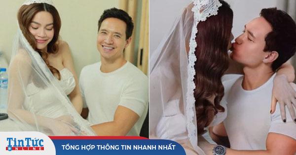 Lộ hậu trường ảnh cưới của Hà Hồ - Kim Lý