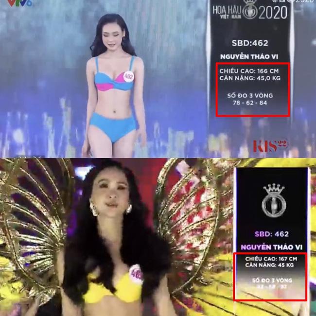 Hàng loạt thí sinh Hoa hậu Việt Nam 2020 bị phát hiện thay đổi số đo nhân trắc học bất thường qua từng vòng, BTC chính thức lên tiếng-3
