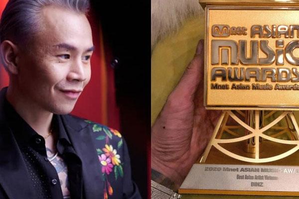 Binz khoe thắng giải thưởng lớn ở MAMA 2020, nhưng phải xoá vội