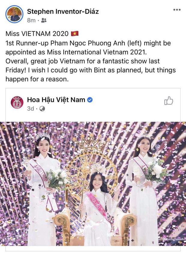 Á hậu 1 Phương Anh vừa đăng quang đã dẫn đầu BXH của fan sắc đẹp quốc tế, Giám đốc truyền thông Miss International khen tới tấp!-2