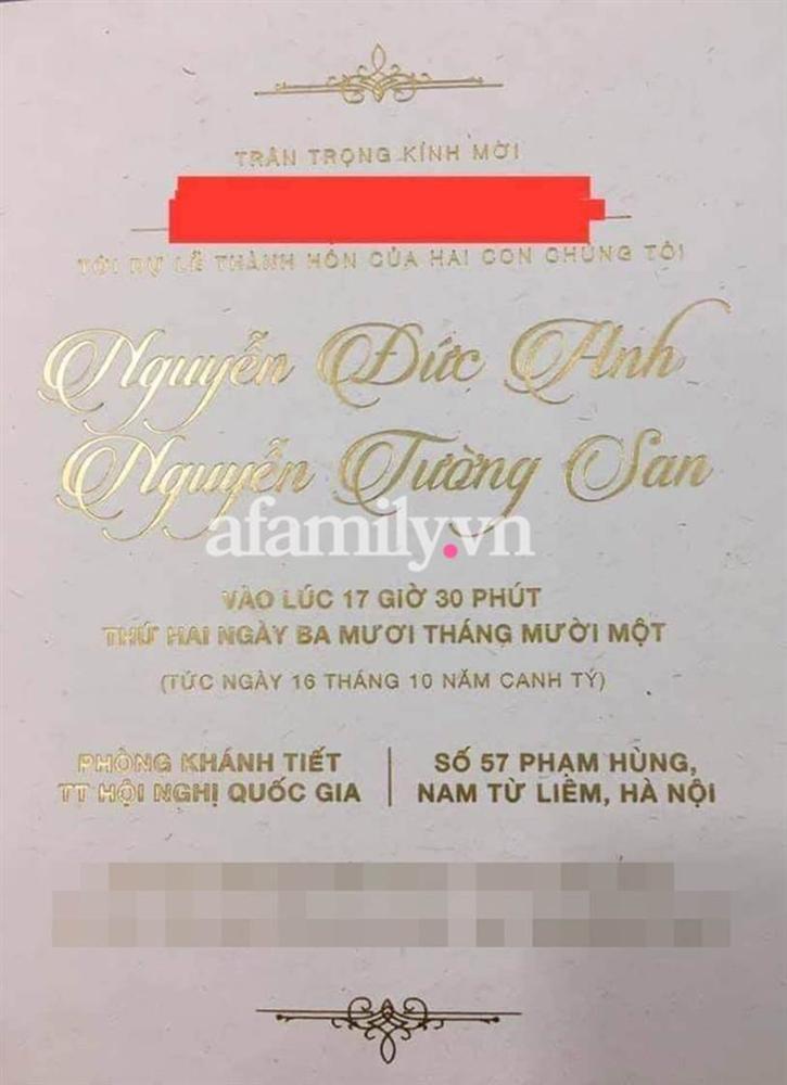Rò rỉ ảnh thiệp cưới Á hậu Tường San, địa điểm tổ chức hôn lễ cực khủng-1