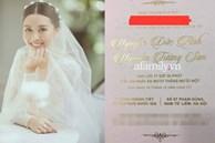 Rò rỉ ảnh thiệp cưới Á hậu Tường San, địa điểm tổ chức hôn lễ cực 'khủng'