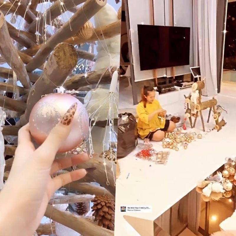 Ngọc Trinh lên đồ đón Giáng Sinh cho biệt thự 40 tỷ, hệt như cung điện dát vàng lấp lánh-2