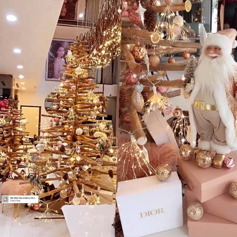 Ngọc Trinh lên đồ đón Giáng Sinh cho biệt thự 40 tỷ, hệt như cung điện dát vàng lấp lánh-3