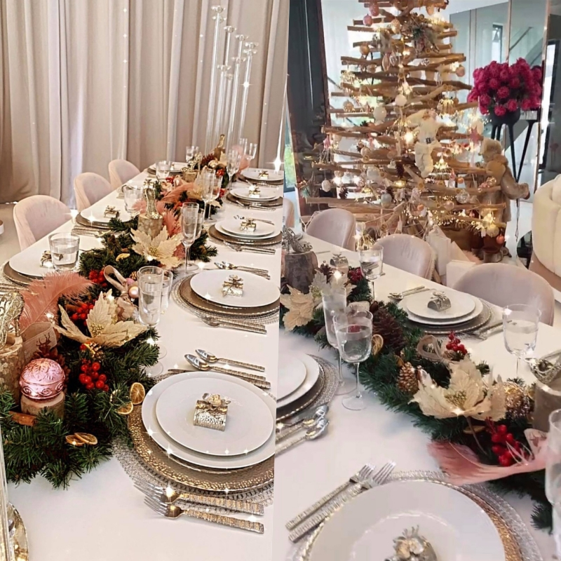 Ngọc Trinh lên đồ đón Giáng Sinh cho biệt thự 40 tỷ, hệt như cung điện dát vàng lấp lánh-4