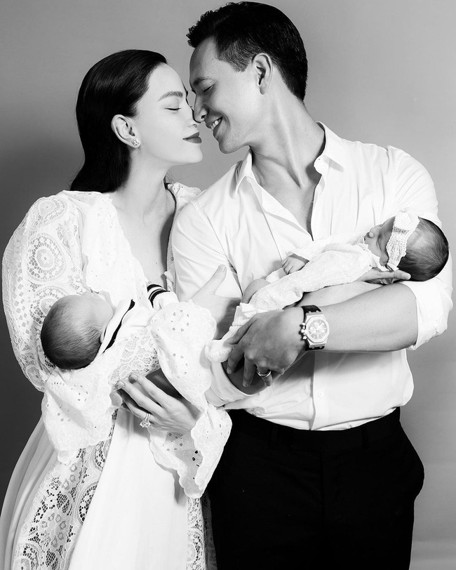 Hồ Ngọc Hà tiếp tục khoe khoảnh khắc ngọt ngào bên Kim Lý và cặp song sinh-1