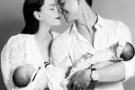 Hồ Ngọc Hà tiếp tục khoe khoảnh khắc ngọt ngào bên Kim Lý và cặp song sinh