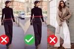 6 sai lầm khi chọn quần ống suông khiến các chị em kém sang trong mắt đồng nghiệp