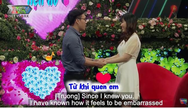 Trong tập 699 Bạn muốn hẹn hò, nam chính Quốc Cường dễ dàng chinh phục nữ chính Lê Thu.-10