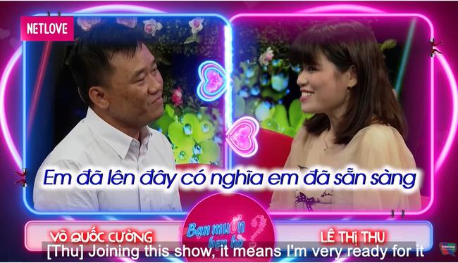 Trong tập 699 Bạn muốn hẹn hò, nam chính Quốc Cường dễ dàng chinh phục nữ chính Lê Thu.-4