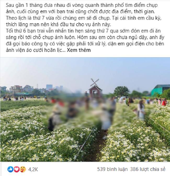 Biết bạn trai hủy lịch chụp ảnh cưới để hẹn với tình cũ, cô gái vẫn bình thản như không, đợi phút chót mới ra tay khiến anh chết sững-1