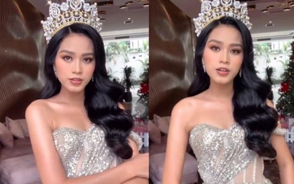 Sau sự cố bị dìm hàng, Hoa hậu Đỗ Thị Hà công khai clip hậu trường lột xác: Make up Tây sắc như dao, thần thái ngút ngàn!-2