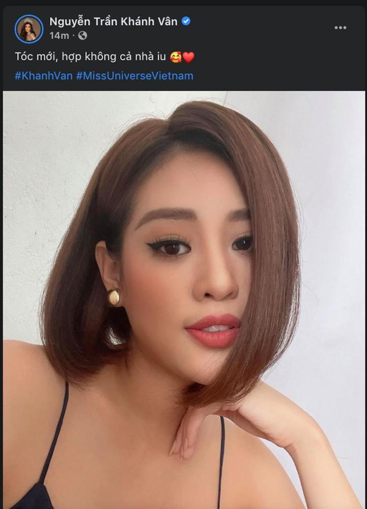 Khánh Vân bất ngờ cắt tóc ngắn, fan khen ngợi nhưng tiếc style mái dài phù hợp thi Miss Universe-1