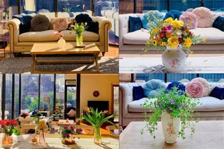 Ngôi nhà bình yên ngập tràn nắng gió, hương thơm và phòng khách