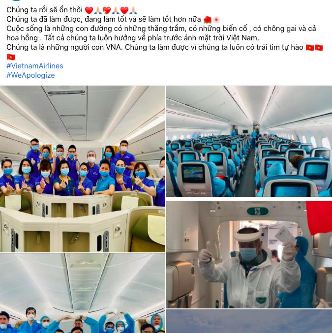 Tiếp viên hàng không Vietnam Airlines đồng loạt treo hashtag #WeApologize thay mặt đồng nghiệp xin lỗi cộng đồng, mong được đối xử văn minh-4