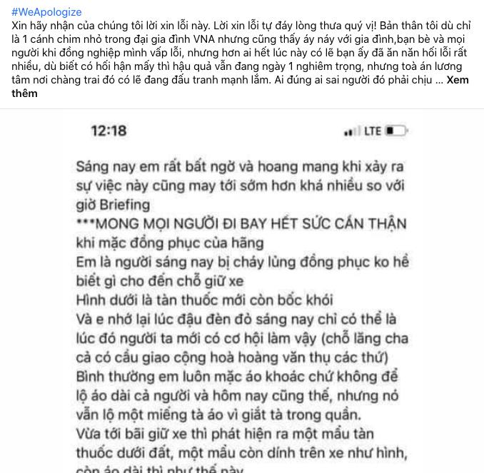 Tiếp viên hàng không Vietnam Airlines đồng loạt treo hashtag #WeApologize thay mặt đồng nghiệp xin lỗi cộng đồng, mong được đối xử văn minh-6
