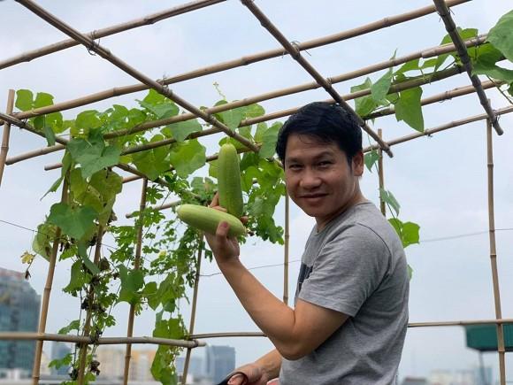 Khu vườn nhỏ xanh mướt, sai trĩu quả trên sân thượng của Ông hoàng nhạc đỏ Trọng Tấn-10
