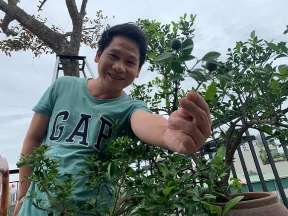 Khu vườn nhỏ xanh mướt, sai trĩu quả trên sân thượng của Ông hoàng nhạc đỏ Trọng Tấn-12