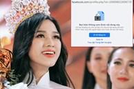 Hoa hậu Đỗ Thị Hà liên tục bị report phải tạm khóa facebook cá nhân