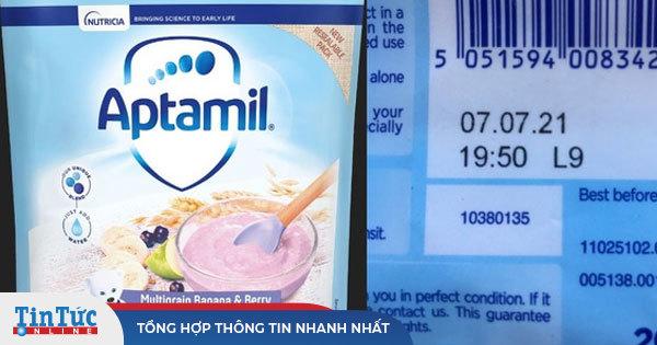 Bột ngũ cốc Aptamil cho trẻ trên 7 tháng tuổi chứa mẩu nhựa
