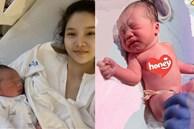 Kỳ Hân lộ diện sau hơn 10 tiếng vật lộn sinh con, nhan sắc mẹ bỉm sữa gây bất ngờ