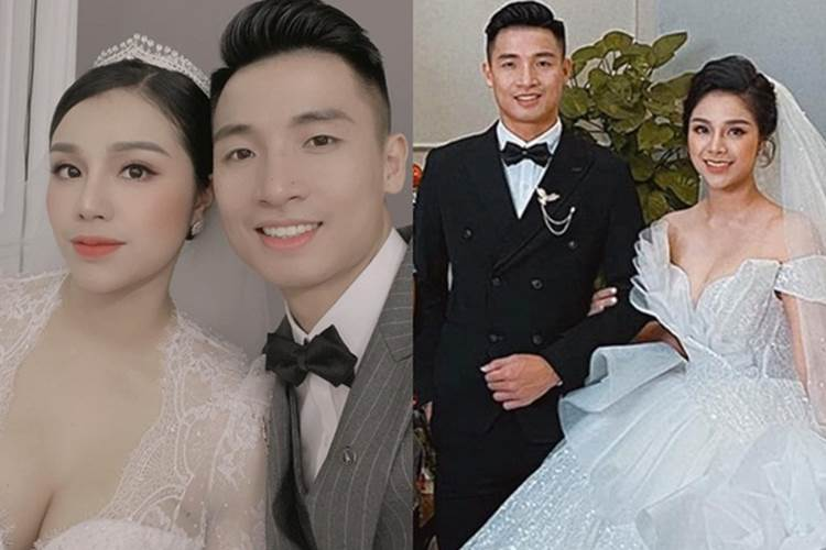 Ảnh cưới Bùi Tiến Dũng: Chú rể đẹp trai ngời ngời, cô dâu photoshop đến biến dạng-4