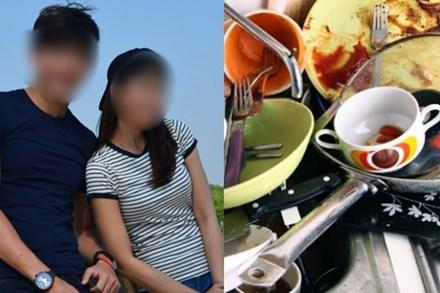 Vợ ốm nằm liệt giường, chồng để bát đĩa nguyên ngày không rửa với lí lẽ