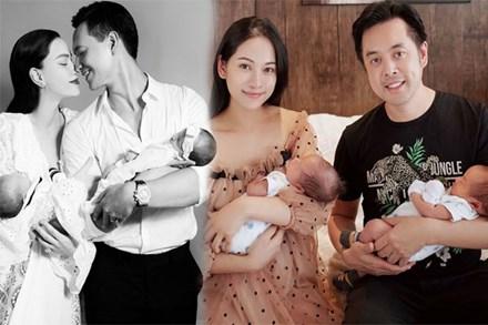 Gia đình Hồ Ngọc Hà - Khắc Việt - Dương Khắc Linh cúng mụ cho con sinh đôi: Mỗi nhà một kiểu nhưng nhà nào cũng cầu kỳ, hoành tráng