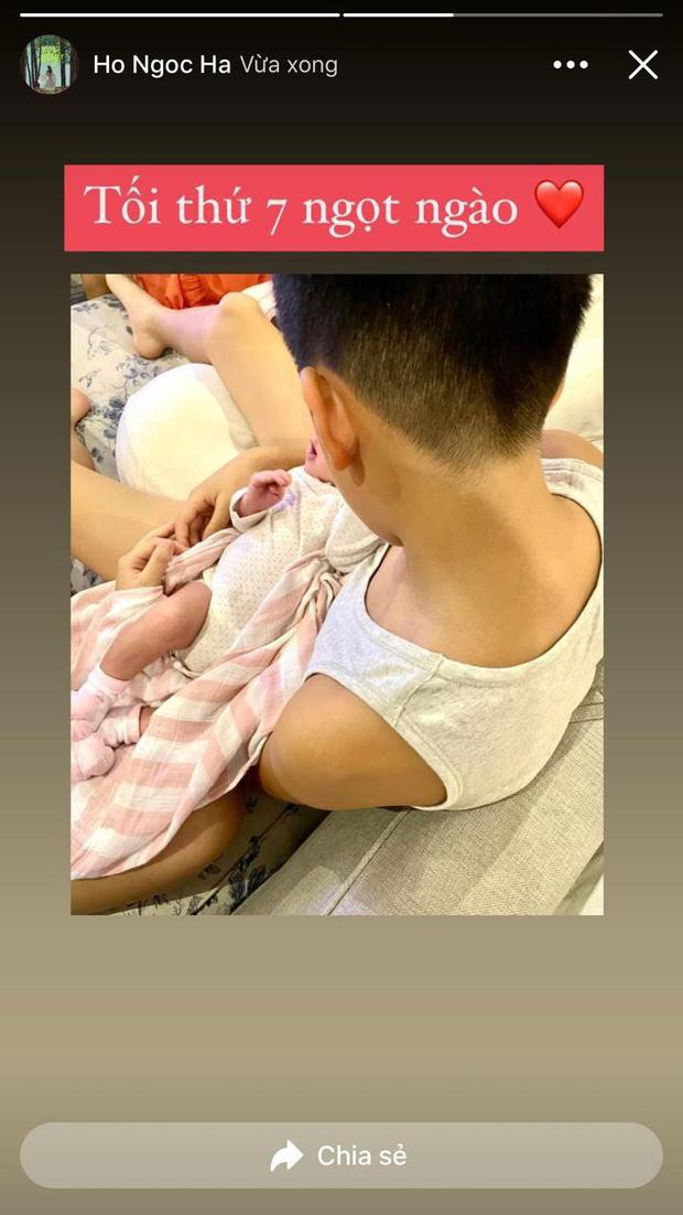 Chỉ đăng 1 bức ảnh cuối tuần, Hà Hồ đã hé lộ được luôn thái độ của Subeo đối với 2 em sinh đôi-1