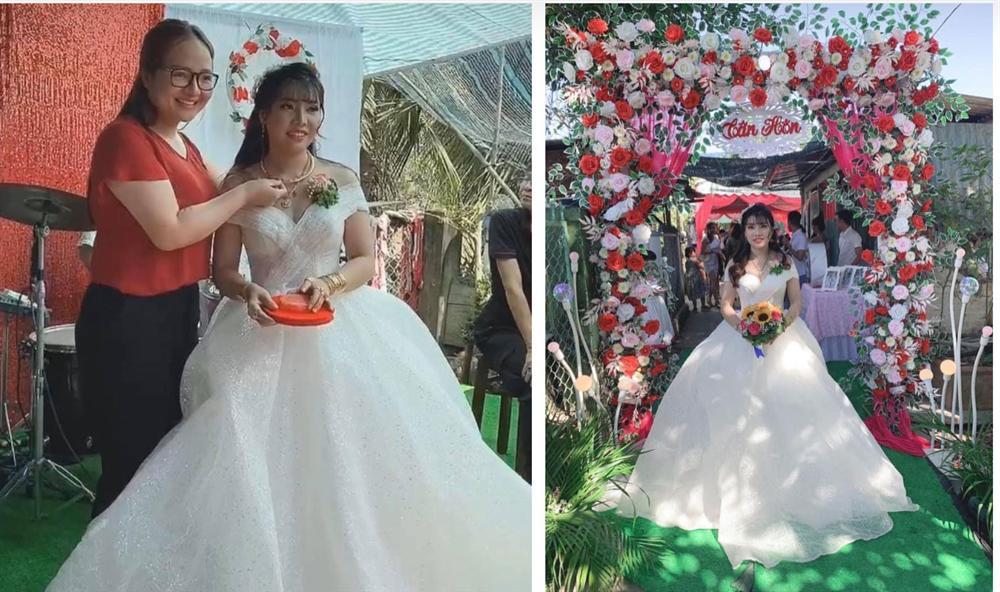 Phượng Thị Nở chính thức lên xe hoa lần 2, nhan sắc hậu dao kéo trong bộ váy cô dâu khiến nhiều người bất ngờ-3