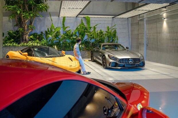 Hé lộ 1 góc quá khủng trong biệt thự của Cường Đô La: Riêng garage chứa siêu xe đã có 2 tầng, phải đi thang máy mới hết-4