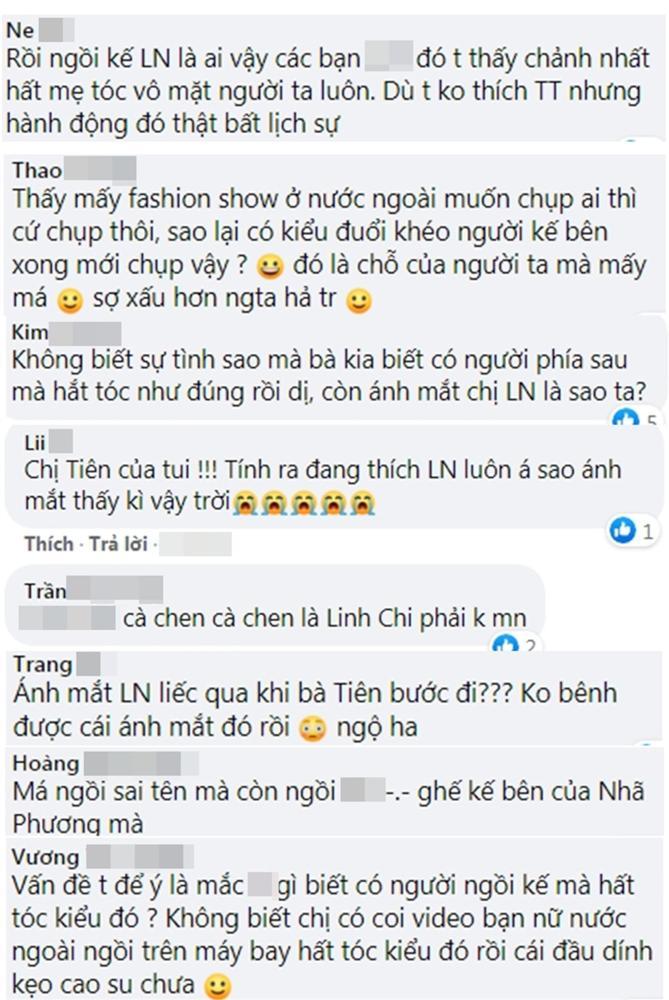 Fan tranh cãi clip Thủy Tiên bị Linh Chi hất tóc, đứng dậy bỏ đi: Lan Ngọc vô tình liên lụy?-6