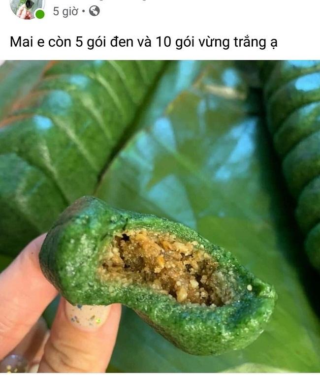 Loại bánh lạ màu xanh đặc sản miền núi hút khách Hà thành-3