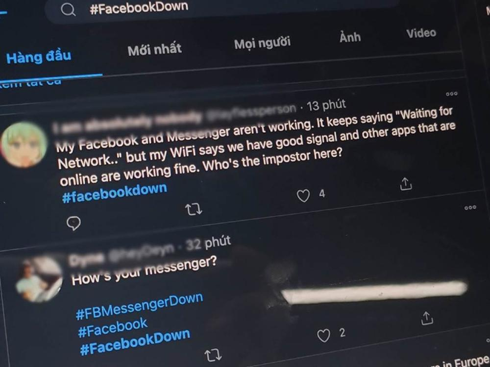 Facebook Messenger đang bị lỗi ở Việt Nam-2