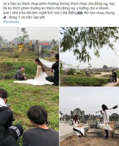 Bộ ảnh cưới kì dị ở nghĩa trang gây tranh cãi MXH: Hóa ra lại liên quan đến câu chuyện thật của nhân vật chính, nhan sắc cô dâu quá bất ngờ-1