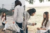 Bộ ảnh cưới 'kì dị' ở nghĩa trang gây tranh cãi MXH: Hóa ra lại liên quan đến câu chuyện thật của nhân vật chính, nhan sắc cô dâu quá bất ngờ